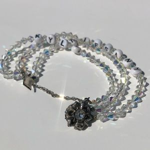 Vintage AB beaded best friend name bracelet